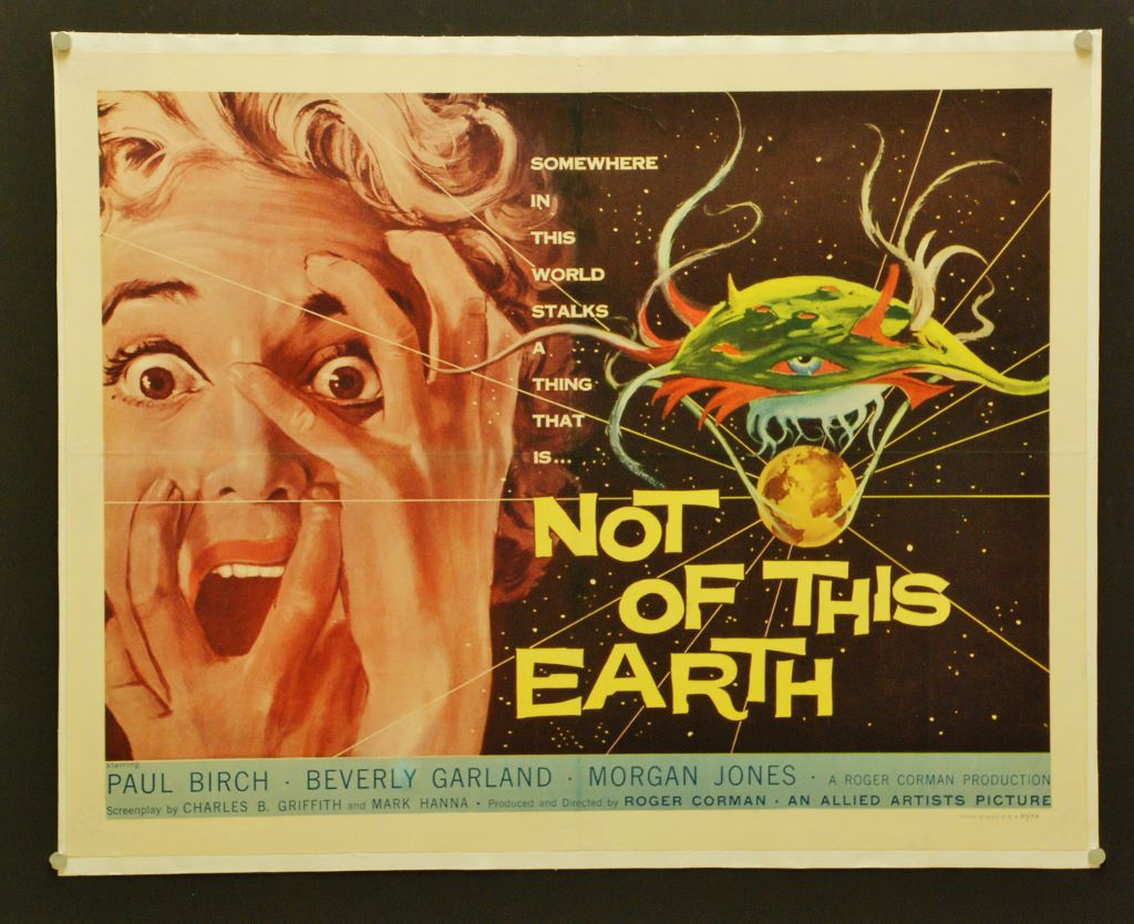 Not Of This Earth - Original Movie Poster Half Sheet ...