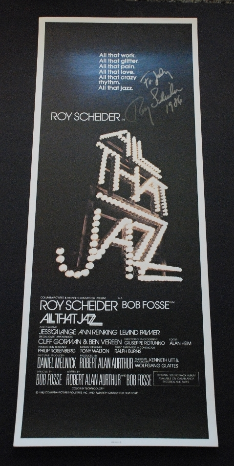 All That Jazz Original Insert 1980 Signed by Scheider ...