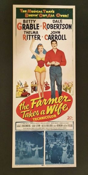 The Farmer Takes a Wife - Movie Poster Insert 1953 ...