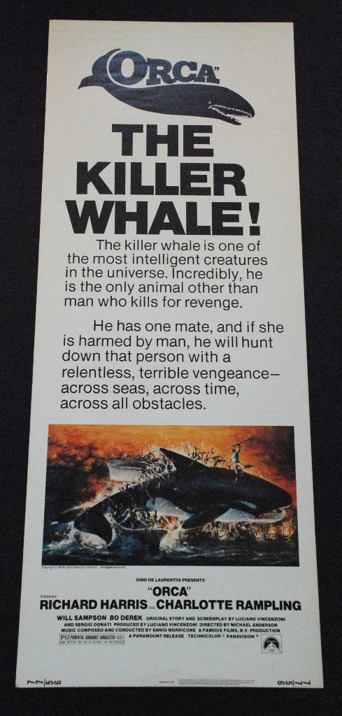 Orca The Killer Whale - Original Insert - 1977 ...
