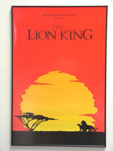 Lion King Movie Poster in Archival Movie Poster Frame | eBay
