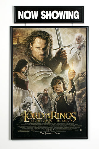 27x40 movie poster frame now showing banner marquis ebay. Black Bedroom Furniture Sets. Home Design Ideas
