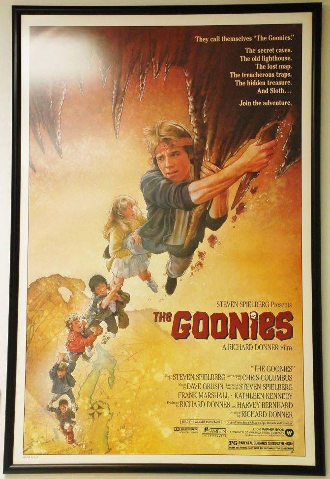 Goonies - Original One sheet - 1985 - Custom Framed ...