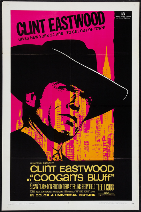 Coogan's Bluff 1968 - Original Movie Poster - *Hollywood ...