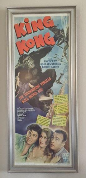 King Kong - Original Movie Poster - 1942 Custom Framed ...