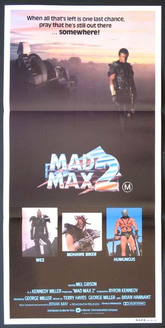 Mad Max 2 - 1982 - Original Daybill - Mel Gibson ...