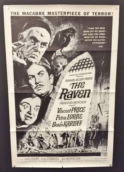 The Raven - Original Movie Poster - Black/White Version ...