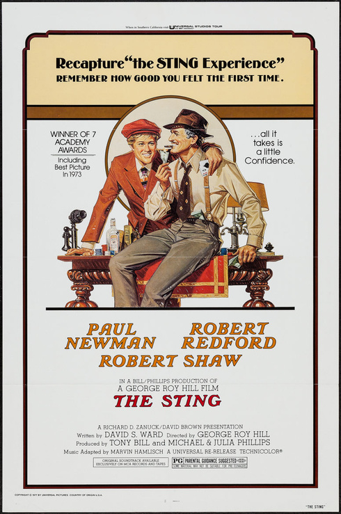 The Sting r1977 - Original Movie Poster - Best Picture ...
